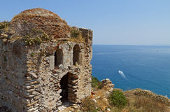 Castle of Skiathos island in Greece Royalty Free Stock Photography
