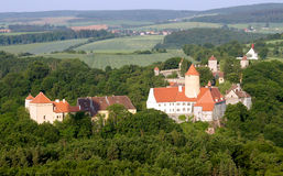 Castle from sky Stock Photo
