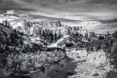 Castle in the sky in black and white - Water Canyon Stock Photo