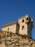 Castle and sky in Tarifa in Spain Royalty Free Stock Photos