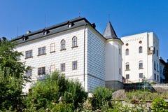 Castle Slatinany, West Bohemia, Czech republic, Europe. Renaissance castle Slatinany with Horse museum, Chrudim,Western Bohemia, Czech republic, Europe stock image