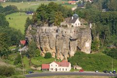 Castle Sloup, Czech republic Stock Images