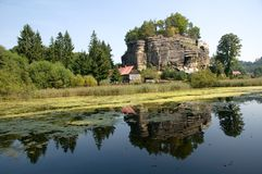 Castle Sloup, Czech republic Royalty Free Stock Image