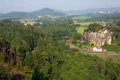 Castle Sloup, Czech republic Stock Photography