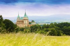 Castle in Slovaki royalty free stock photo