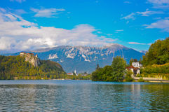 The castle on Slovenian mounts Royalty Free Stock Images