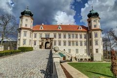 Castle with small park Royalty Free Stock Images