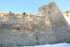 Castle. Small castle in Slovakia on the river bank royalty free stock photo