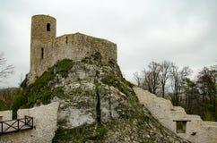 Castle in Smolen village Poland. Castle in Smolen village Krakow-Czestochowa jura region royalty free stock images