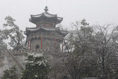 A Castle in Snow stock photography