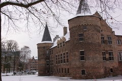 Castle in the snow Royalty Free Stock Image