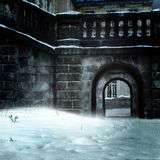 Castle in snow Royalty Free Stock Photos