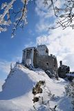 Castle in the snow Stock Photo