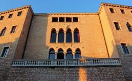 Castle of Soardo Bembo , Bale, Istria, Croatia. Castle of Soardo-Bembo , Bale, Istria, Croatia, partial view at sunset royalty free stock image