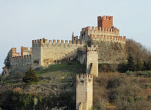 Castle Soave ancient medieval prisony in the Province of Verona Royalty Free Stock Image