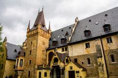 Castle Sobotka Gorka. Old in the process of restoration Castle Sobotka Gorka Poland Royalty Free Stock Image