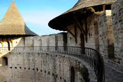 Castle in Soroca, Medieval Fortress. Architectural details of medieval fort in Soroca, Republic of Moldova stock photo