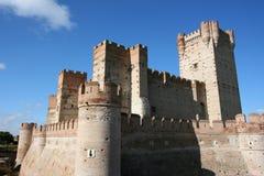 Castle in Spain. Medieval castle in Medina del Campo, Castilia, Spain. Castillo de la Mota Royalty Free Stock Photography