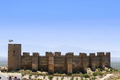 The castle of Spain royalty free stock photos