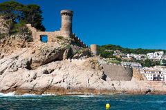 Castle at Spanish coast Stock Photos