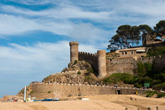 Castle at the Spanish coast Stock Photography