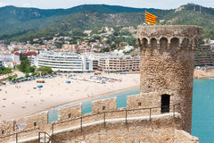 Castle in Spanish Tossa de Mar Royalty Free Stock Image