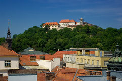 Castle Spilberk in Brno. Stock Image