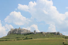 Castle Spis castle. A foto of the Spis castle in the Slovakia Royalty Free Stock Image