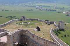 Castle Spis castle area. A foto of the Spis castle in the Slovakia Royalty Free Stock Photos