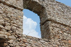 Castle Spis castle window. A foto of the Spis castle in the Slovakia Stock Images