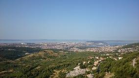 Castle. Split Croatia cliff ancient city stock images