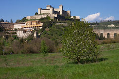 The castle of Spoleto Royalty Free Stock Photography