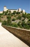 The castle of Spoleto royalty free stock photo