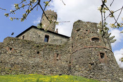Castle in spring. The castle in one of the most beautiful places in Italy, Campo Ligure, near Genoa Stock Images