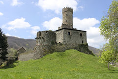 Castle in spring. The castle in one of the most beautiful places in Italy, Campo Ligure, near Genoa Stock Photo