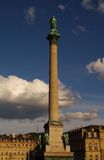 Castle square and anniversary column in Stuttgart Stock Images