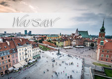 Castle Square and the Barbakan Royalty Free Stock Images