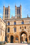 Castle Square and Lincoln Cathedral Royalty Free Stock Image