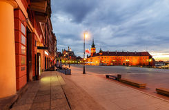 Castle square in the morning. Warsaw. Royalty Free Stock Photos