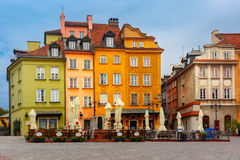 Castle Square in the morning, Warsaw, Poland. Stock Images