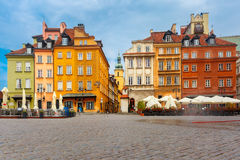 Castle Square in the morning, Warsaw, Poland. Royalty Free Stock Image