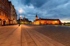Castle square in the old town in Warsaw, Poland Stock Image