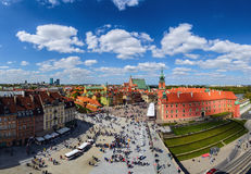 Castle square and old town of Warsaw Royalty Free Stock Images