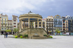 Castle Square in Pamplona,Spain stock photography