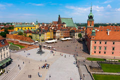 Castle Square in Warsaw Stock Photos