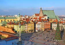 Castle square, Warsaw, Poland Stock Photography