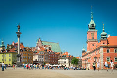 Castle square in Warsaw, Poland, Europe. Royalty Free Stock Photo