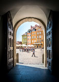 Castle square in Warsaw, Poland, Europe. Royalty Free Stock Photography
