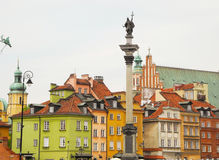 Castle Square in Warsaw. Stock Images