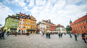Castle Square in Warsaw Royalty Free Stock Image